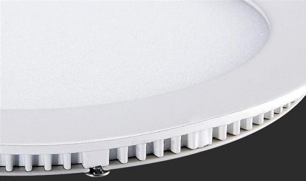 Panou cu LED rotund incastrabil, diametru 30cm, alb natural, 4500K, ultra-slim, 24W, 85-265V AC, (driver 54-96V) [2]