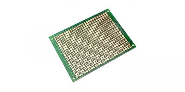 Placa de Test Gaurita, Verde, 70x50mm 432 puncte de lipire, placa universala circuite [0]