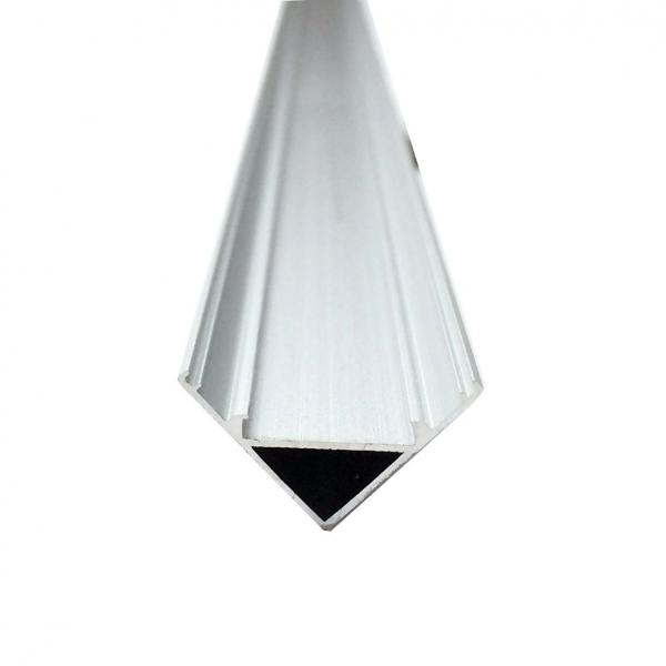 Profil aluminiu / Canal Banda Led Hard Strip pe colt (90°), capac alb mat, Lungime 1m [1]