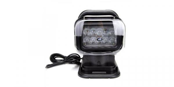 Proiector LED auto 50W, 10 LED-uri, 12-24V, cu telecomanda [0]