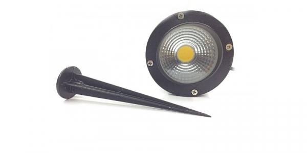 Proiector LED gradina, 5W COB, alb cald, 220V [0]