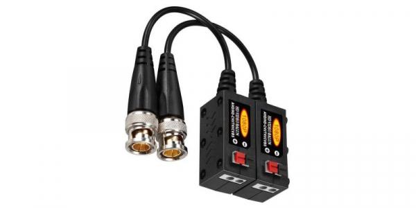 Set Video Balun 1080P AHD/HD-CVI/TVI/CVBS  (3MP/4MP) negru+rosu [0]
