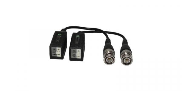 Set Video Balun HD-CVI/TVI/AHD alb+gri - protectie interferente si descarcari electrice [0]