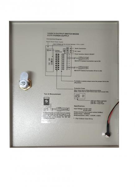 Sursa alimentare 12V / 10A cu 9 canale in cutie de tabla POWER BOX10A [2]