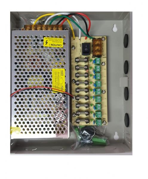 Sursa alimentare 12V / 10A cu 9 canale in cutie de tabla POWER BOX10A [1]
