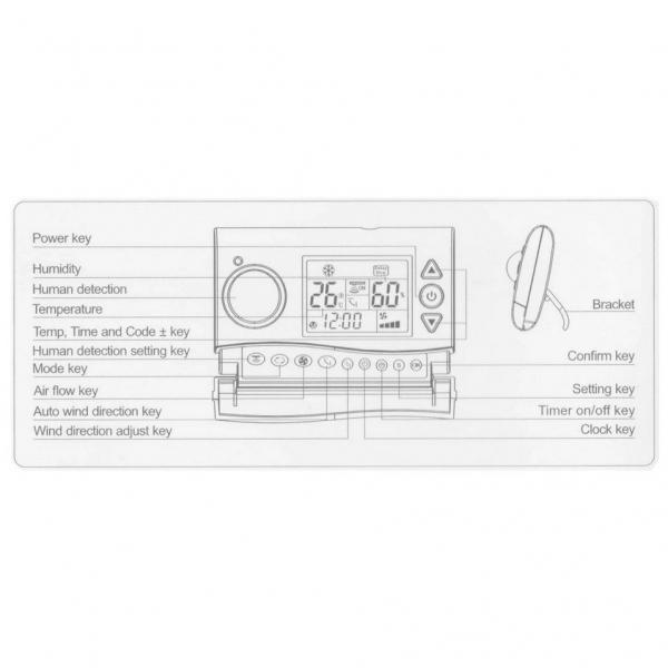Telecomanda / controller universal aer conditionat Qunda, include senzor de miscare, PIR KT-PIR1 [1]