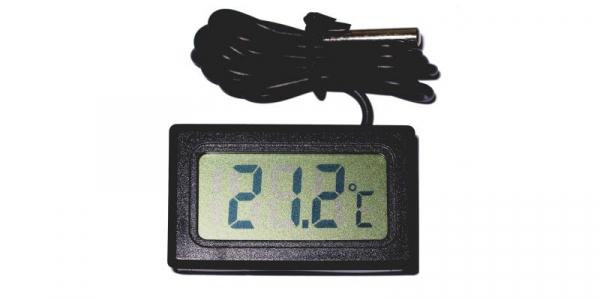 Termometru digital negru de panou TPM-10-BK [1]