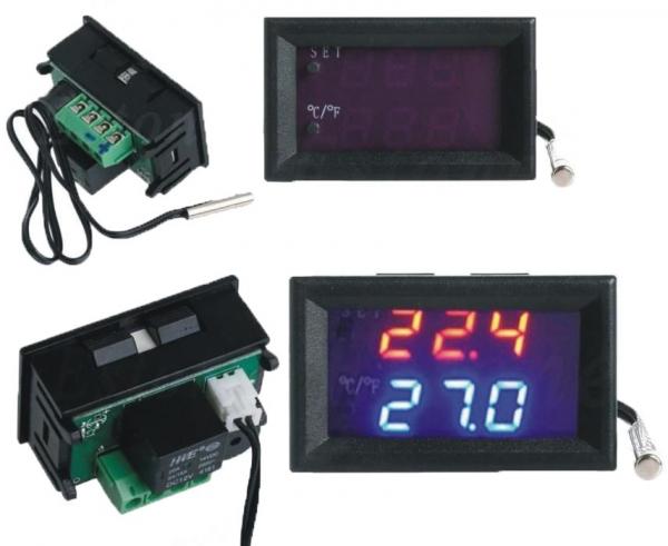 Termostat electronic cu afisaj digital, alimentare 12V, regulator temperatura [1]