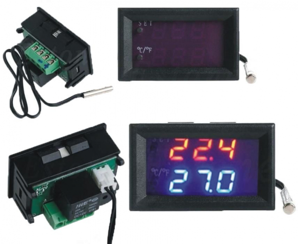 Termostat electronic cu afisaj digital, alimentare 12V, regulator temperatura [2]