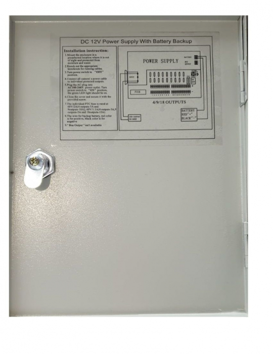 Sursa de alimentare cu backup, 9 canale, UPS 12V10A [2]