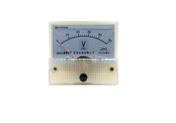 Voltmetru analogic de panou 50V curent continuu [0]