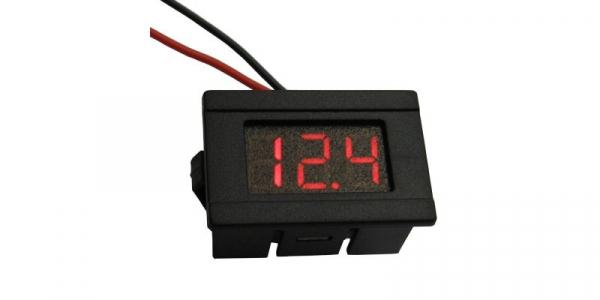 Voltmetru digital 2,5-30V rosu cu carcasa [0]