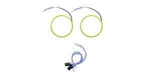 Angel eyes 80mm, LED COB Alb Rece, cablu 60 cm + driver detasabil LED70-80A [0]