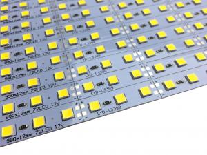 Banda led HARD STRIP led 5054 alb cald,  aluminiu, 72LED/m, alimentare 12V [1]