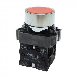 Buton rosu cu apasare cu doua contacte si 2 pozitii LA167-B2-BA45 [0]