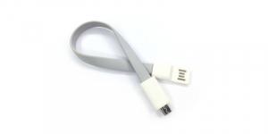 Cablu de date USB-Micro USB Magnetic gri, USB v2.0 lungime 22 cm [1]