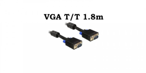 Cablu VGA Tata Tata 1.8m 15 pini, ecranat, cu bobina antiparaziti [0]