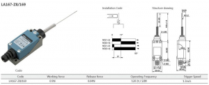 Comutator limitator cu arc cu varf subtire metalic Kenaida LA167-Z8/169 [2]