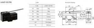 Comutator limitator cu lamela Kenaida LA167-Z1/701 [2]