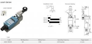 Comutator limitator cu maneta reglabila si rola din plastic Kenaida LA167-Z8/104 [1]