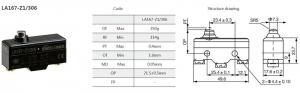 Comutator limitator cu push button fara retinere Kenaida LA167-Z1/306 [2]