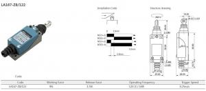 Comutator limitator cu rola metalica transversala Kenaida LA167-Z8/122 [2]