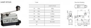 Comutator limitator de cursa cu lamela lunga si rola 68mm lungime Kenaida LA167-Z7/121 [2]