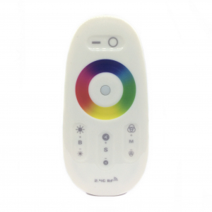 Controler banda LED RGB cu telecomanda prin radiofrecventa RF cu zona control tactil pentru alegere culori [1]