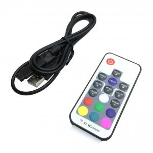 Controller RGB RF 17 taste, USB, curent maxim 3x4A, 5V [0]