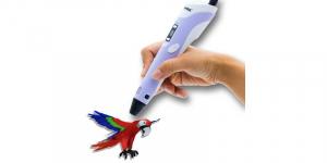 Creion 3D RP-100B cu afisaj digital pentru desene tridimensionale+set de 3 filamente PLA cadou [0]