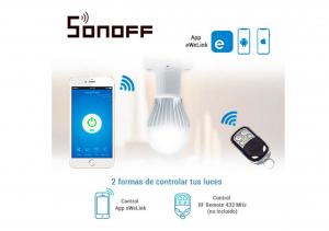 Dulie cu comanda WiFi si receptor RF 433 MHz Sonoff Slampher RF [2]