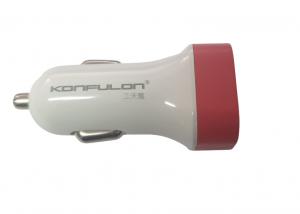 Incarcator auto Konfulon C17 12-24V, 2xUSB 5V 2.1A rosu [3]