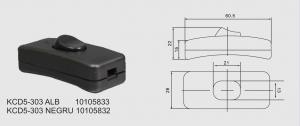 Intrerupator pe fir 250V/2A negru KCD5-303 [1]
