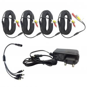 Kit DVR 8 canale 1080H + 4 camere dome 2.0MP, include sursa de alimentare, cabluri, spliter, mouse wireless [3]