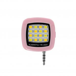 Lanterna selfie suplimentara cu LED-uri, pentru telefoane mobile, conector jack 3.5 [2]