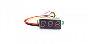 """Mini voltmetru digital 0.28"""", 3 fire, alimentare 4-30V [1]"""