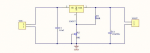 Modul convertor DC-DC coborator de tensiune (step down), liniar, IN:4.2-40V, OUT:1.2-37V (max1.5A), LM317 [1]