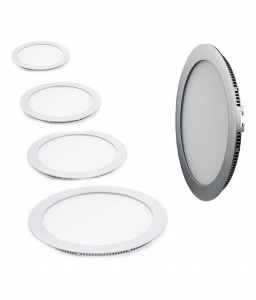 Panou cu LED rotund incastrabil, diametru 30cm, alb rece, 6500K, ultra-slim, 24W, 85-265V AC, (driver 54-96V) [2]