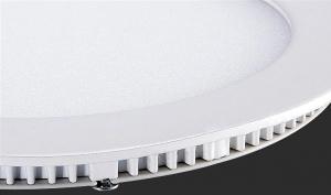 Panou cu LED rotund incastrabil, diametru 30cm, alb rece, 6500K, ultra-slim, 24W, 85-265V AC, (driver 54-96V) [3]