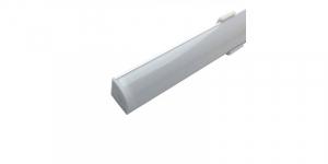 Profil aluminiu / Canal Banda Led Hard Strip pe colt (90°), capac alb mat, Lungime 1m [0]