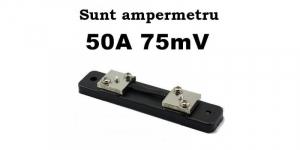 Sunt 50A 75mV ampermetru analogic de panou [1]