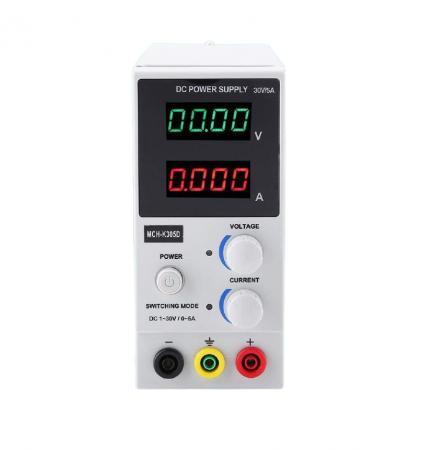 Sursa de laborator control tensiune si curent MCH-K305D 0-30V, 0-5A [0]