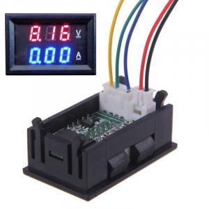 Voltmetru ampermetru cu afisaj dual LED 0-100V, 10A, DSN-VC288 [0]