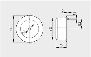 Actuator magnetic BPS 303 SS 1