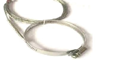 Thermocouple J d.40/60 400mm glass fiber cable 2 wires spring [0]