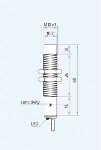 Senzor capacitiv CS12-N10NO60P-A2P1