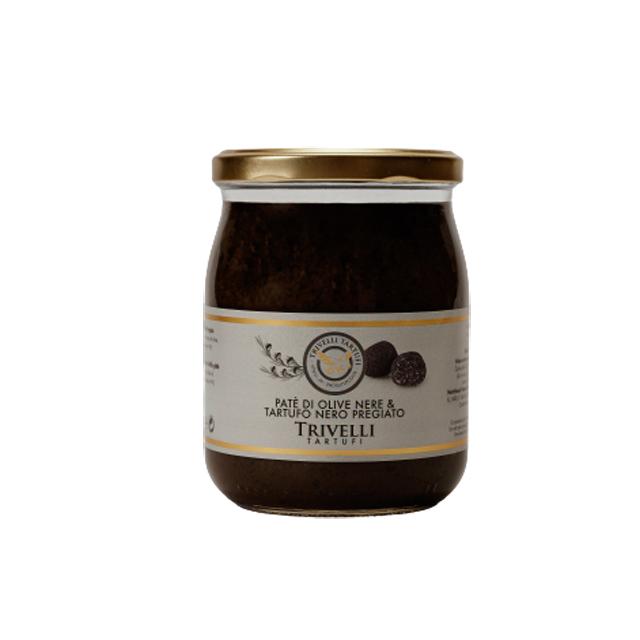 pate-de-masline-negre-cu-trufe-negre-fine-de-post-500-gr-trivelli-tartufi 0