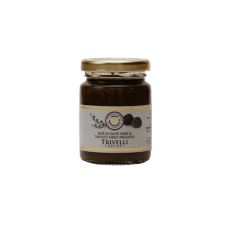 Pate de Masline Negre cu Trufe Negre Fine de Post, 90 gr, Trivelli Tartufi [0]
