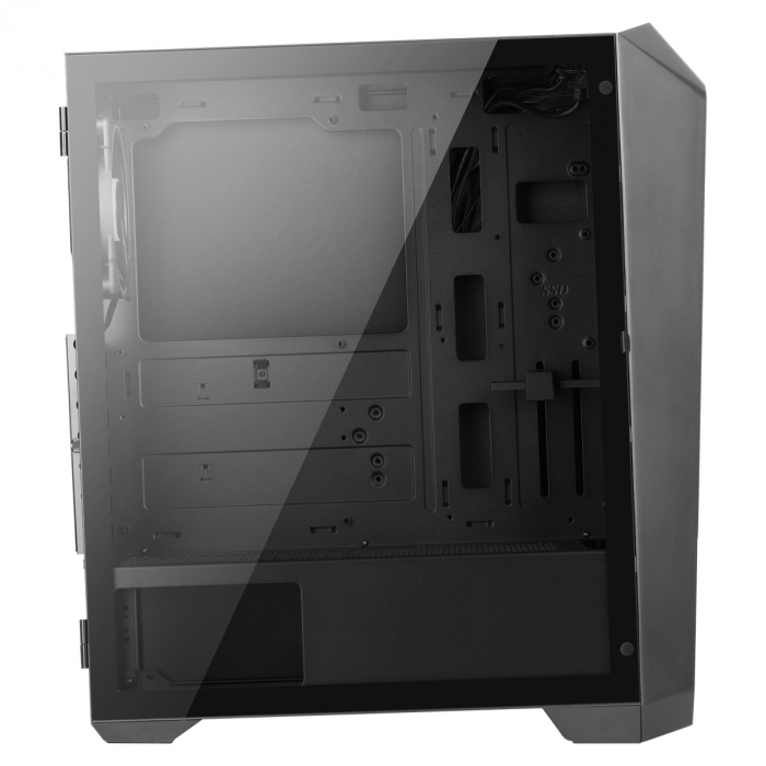 Carcasa ABKONCORE Helios 300G SYNC neagra, ATX Mid Tower, tempered glass, fara sursa [4]