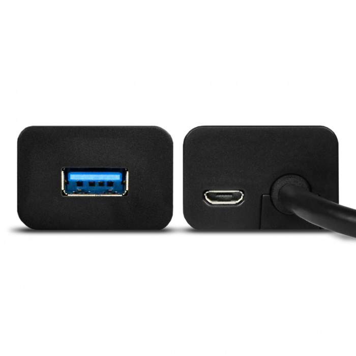 4x USB3.0 Charging Hub 1.2m Cable, MicroUSB Charging, Incl. AC Adapter [11]
